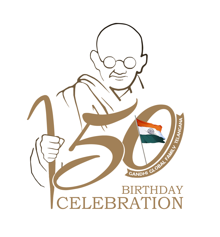 Gandhi 150 Celebration Logo